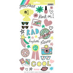 My Mind's Eye - Good Vibes Collection - Cardstock Stickers with Foil Accents