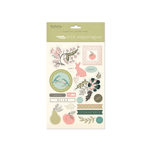 My Minds Eye - Wild Asparagus Collection - 6 x 9 Sticker Sheets