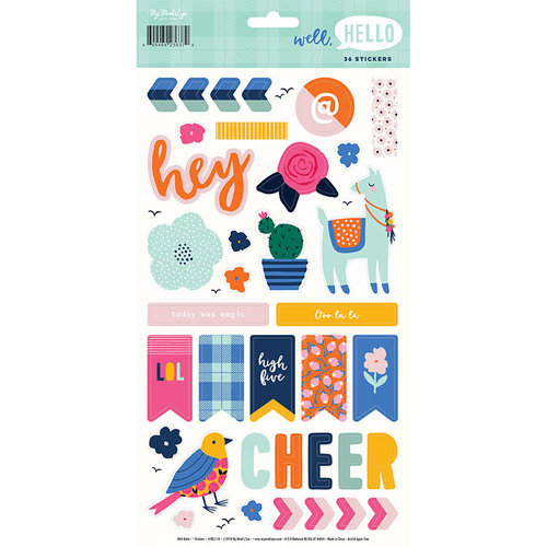 My Minds Eye - Well Hello Collection - Cardstock Stickers
