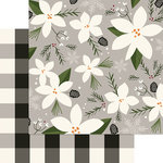 My Minds Eye - Winterberry Collection - Christmas - 12 x 12 Double Sided Paper - Snow Flower