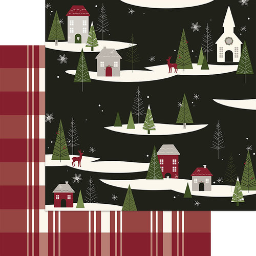 My Minds Eye - Winterberry Collection - Christmas - 12 x 12 Double Sided Paper - Over the River