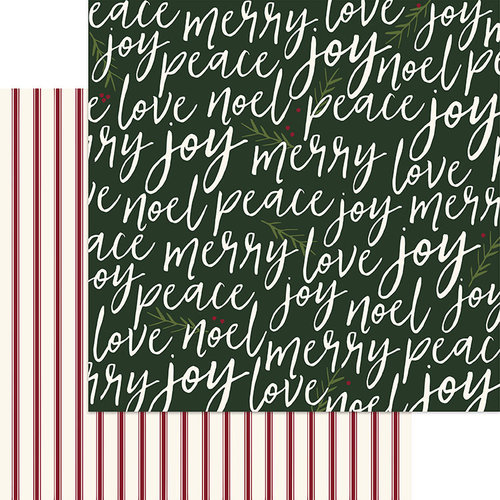 My Minds Eye - Winterberry Collection - Christmas - 12 x 12 Double Sided Paper - Merrily