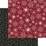 My Minds Eye - Winterberry Collection - Christmas - 12 x 12 Double Sided Paper - Let it Snow