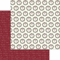 My Minds Eye - Winterberry Collection - Christmas - 12 x 12 Double Sided Paper - Merry Berry