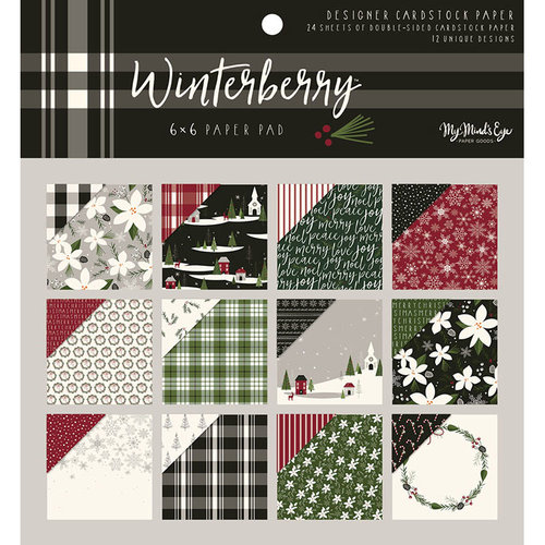 My Minds Eye - Winterberry Collection - Christmas - 6 x 6 Paper Pad