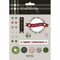 My Minds Eye - Winterberry Collection - Christmas - Decorative Brads