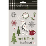 My Minds Eye - Winterberry Collection - Christmas - Puffy Stickers