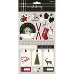 My Minds Eye - Winterberry Collection - Christmas - Cardstock Stickers