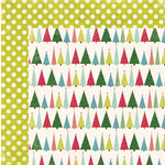 My Mind's Eye - Winter Wonderland Collection - Christmas - 12 x 12 Double Sided Paper - Christmas Trees