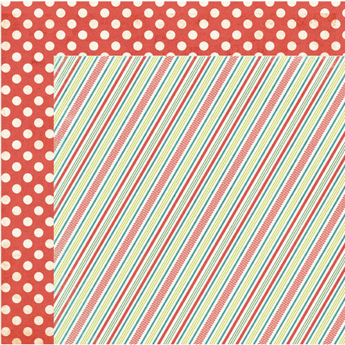 My Mind's Eye - Winter Wonderland Collection - Christmas - 12 x 12 Double Sided Paper - Stripes