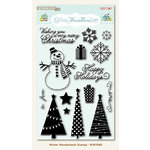 My Mind's Eye - Winter Wonderland Collection - Christmas - Clear Acrylic Stamps