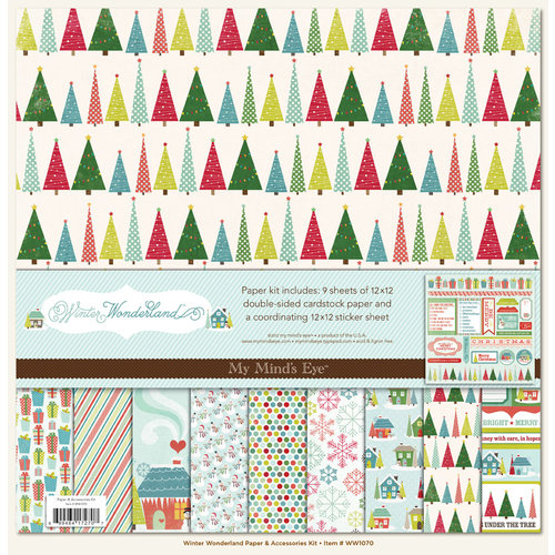 My Mind's Eye - Winter Wonderland Collection - Christmas - 12 x 12 Paper Kit