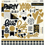 My Minds Eye - Yes, Please Collection - 12 x 12 Chipboard Stickers - Elements