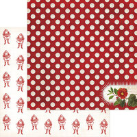 My Minds Eye - Christmas - Yuletide Collection - 12 x 12 Double Sided Paper - Cheery with Glitter Accents