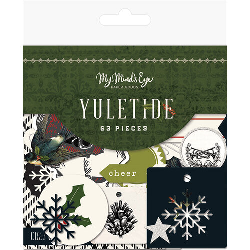 My Minds Eye - Christmas - Yuletide Collection - Mixed Bag with Glitter Accents