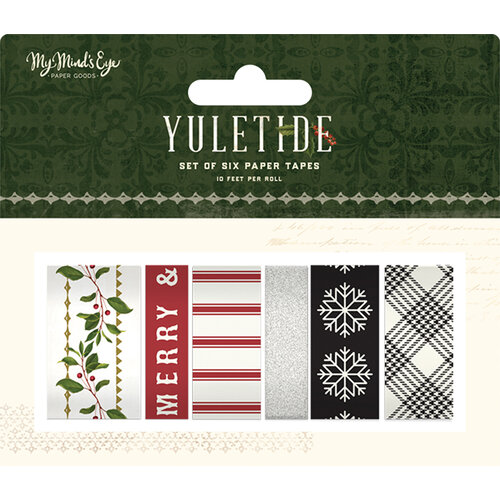 My Minds Eye - Christmas - Yuletide Collection - Washi Tape with Glitter Accents