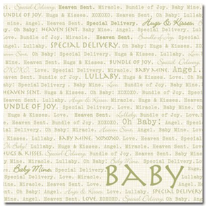 Masterpiece Studios - Stemma - 12x12 Paper - Oh Baby, CLEARANCE