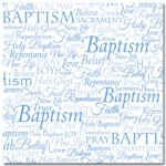 Masterpiece Studios - Stemma - 12x12 Paper - Word Baptism, CLEARANCE