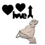 Maya Road - Acrylic Collection - Clear Acrylic Keychain Set - Love, CLEARANCE