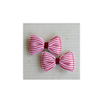 Maya Road - Candy Stripe Bows - Cherry