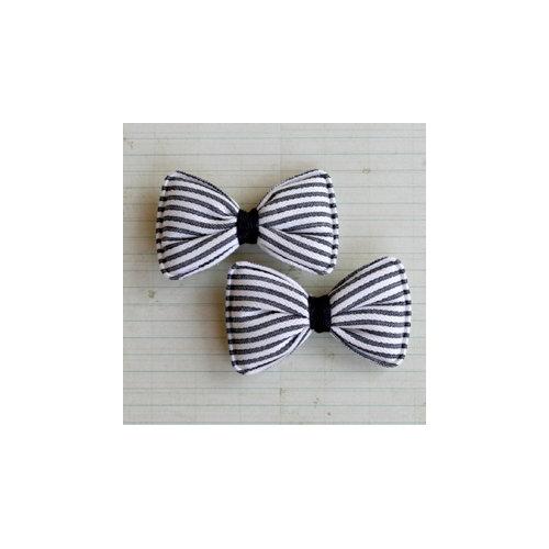 Maya Road - Candy Stripe Bows - Licorice