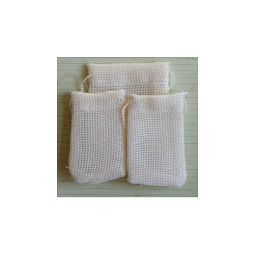 Maya Road - Vintage Linen Burlap - Treasure Bags - Cream