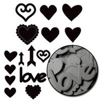 Maya Road - Chipboard Collection - Chipboard Mini Set - Love