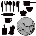 Maya Road - Chipboard Collection - Chipboard Mini Set - Whats Cookin