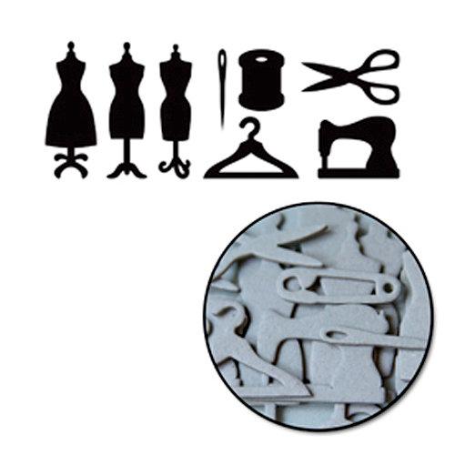 Maya Road - Chipboard Collection - Chipboard Mini Set - Sew Cute