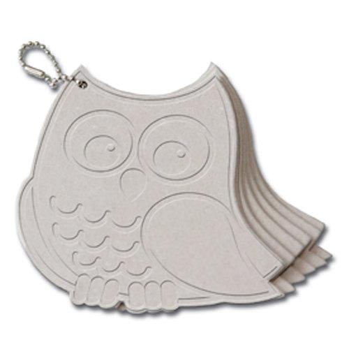 Maya Road - Chipboard Collection - Chipboard Keychain Set - Owl II Coaster