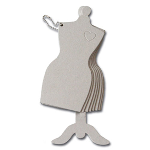 Maya Road - Chipboard Collection - Chipboard Book - Dress Form, CLEARANCE