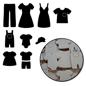 Maya Road - Chipboard Collection - Chipboard Mini Set - Laundry Day