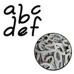 Maya Road - Chipboard Collection - Chipboard Mini Set - Audrey Alphabet