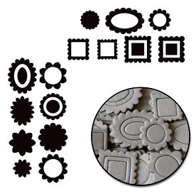 Maya Road - Chipboard Collection - Chipboard Mini Set - Mini Scallop, BRAND NEW