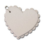 Maya Road - Chipboard Collection - Chipboard Book - Scallop Heart