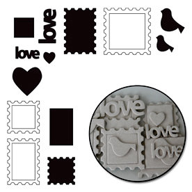 Maya Road - Chipboard Collection - Chipboard Set - Love Notes, CLEARANCE