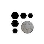 Maya Road - Chipboard Set - Hexagons