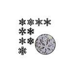Maya Road - Chipboard Set - Large Snowflakes