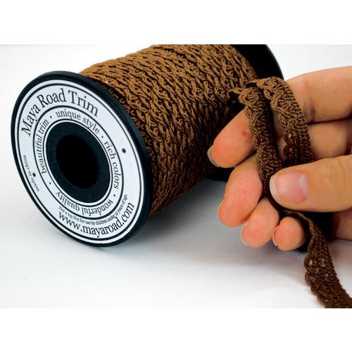 Maya Road - Trim Collection - Crochet Trim - Brown - 25 Yards