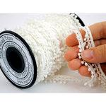 Maya Road - Trim Collection - Vintage Crochet Trim - Baby Pom Pom - White - 25 Yards