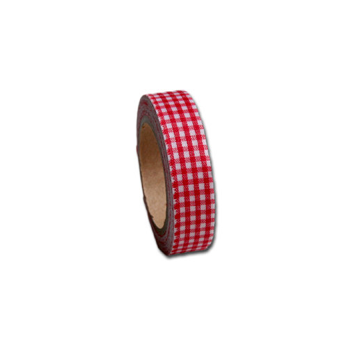 Maya Road - Fabric Tape - Gingham - Barn Red