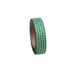Maya Road - Fabric Tape - Gingham - Leaf Green