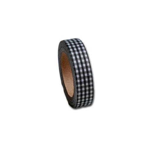 Maya Road - Fabric Tape - Gingham - Coal Black