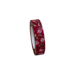 Maya Road - Fabric Tape - Rose Blossoms - Burgundy Red
