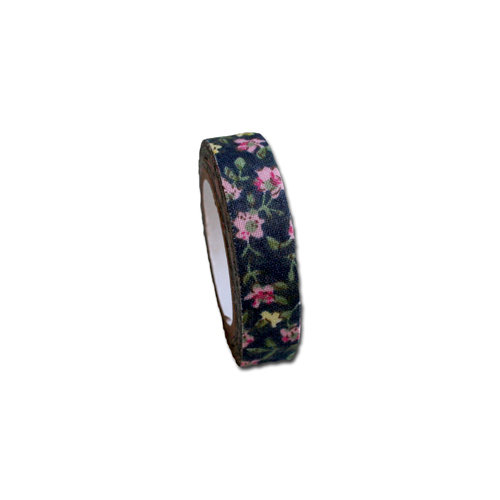Maya Road - Fabric Tape - Rose Blossoms - Midnight Blue