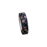 Maya Road - Fabric Tape - Rose Blossoms - Midnight Blue