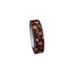 Maya Road - Fabric Tape - Rose Blossoms - Chocolate Brown