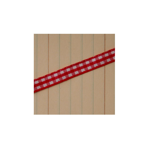 Maya Road - Trim - Mini Gingham - Apple Red - 25 Yards