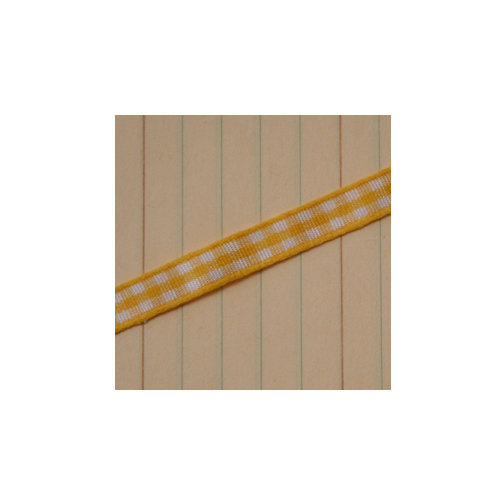Maya Road - Trim - Mini Gingham - Lemon Yellow - 25 Yards