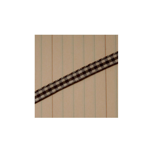 Maya Road - Trim - Mini Gingham - Coffee Brown - 25 Yards